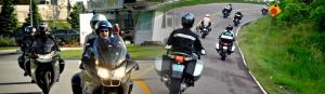 BMW rider collage